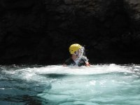 Nadando en las aguas del barranco