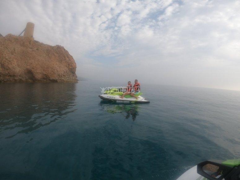 阿尔梅里亚的两人水上摩托艇