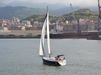 游巴斯克海岸帆船船头