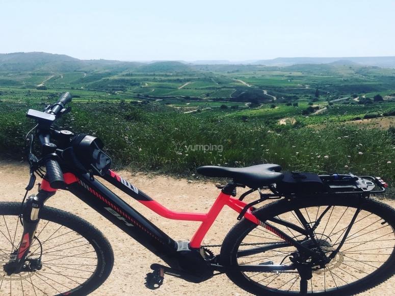 Vistas de La Rioja en e-btt