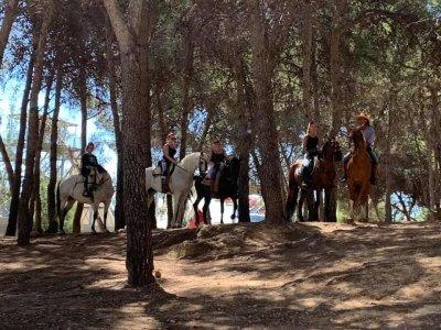 Ruta a caballo al amanecer y desayuno Torremolinos