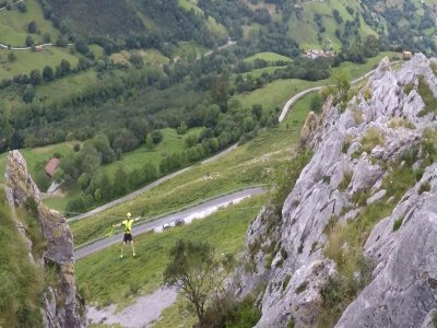 Vía Ferrata nivel K4 con 2 rápeles en Liérganes