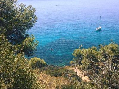 Ruta guiada de SUP a Marina del Este y snorkel
