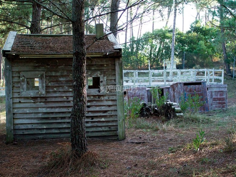 Shelter for the game of paintball