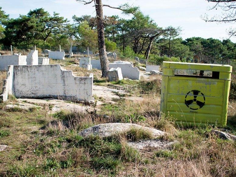 Radioactive paintball area
