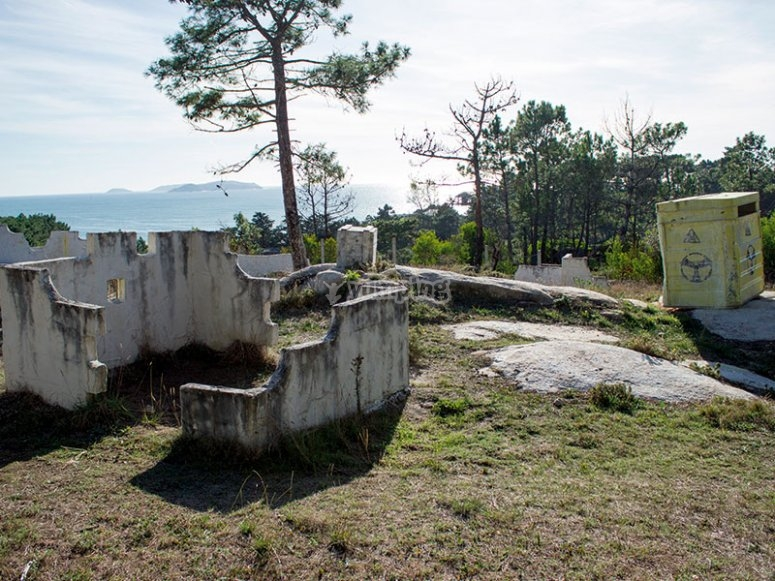 Bunker in the paintball field
