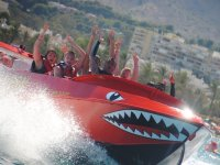 Rising hand in the jetboat