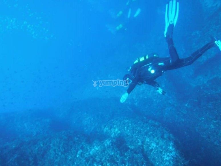 潜水员潜水