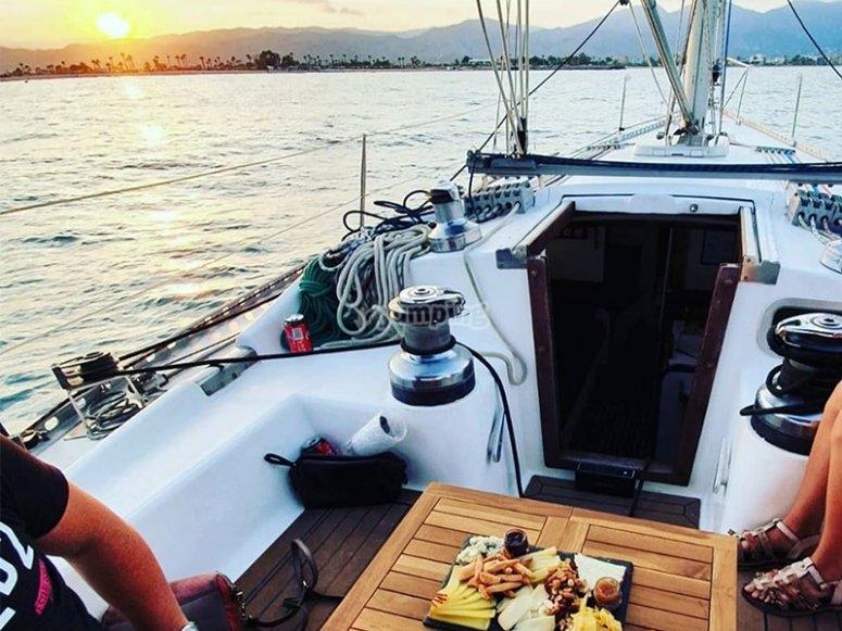 Tarde de relax en velero