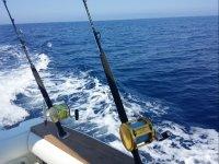 Mulinelli da pesca sulla barca