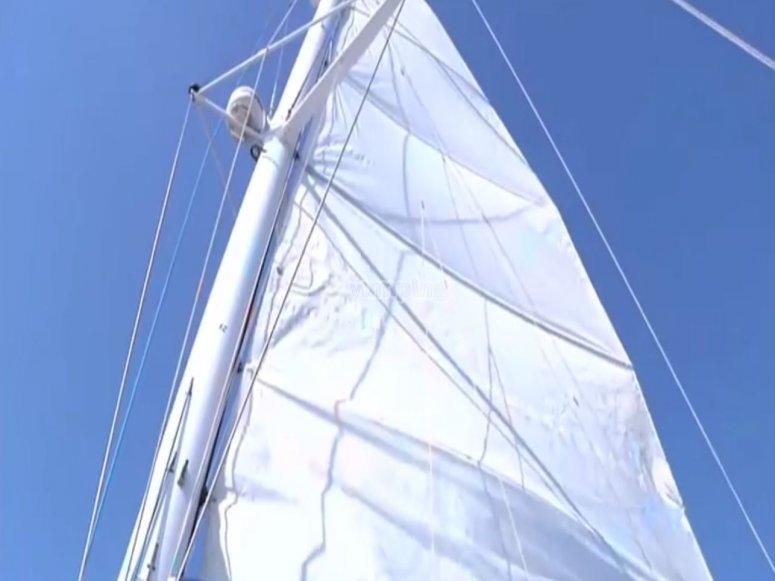 Sailing in catamaran