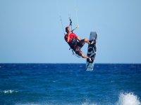 卢戈在加利西亚风筝冲浪风筝冲浪萨尔托斯