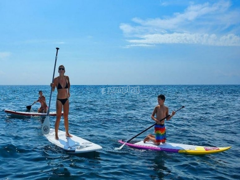 Paddle surf outing on the Costa Dorada
