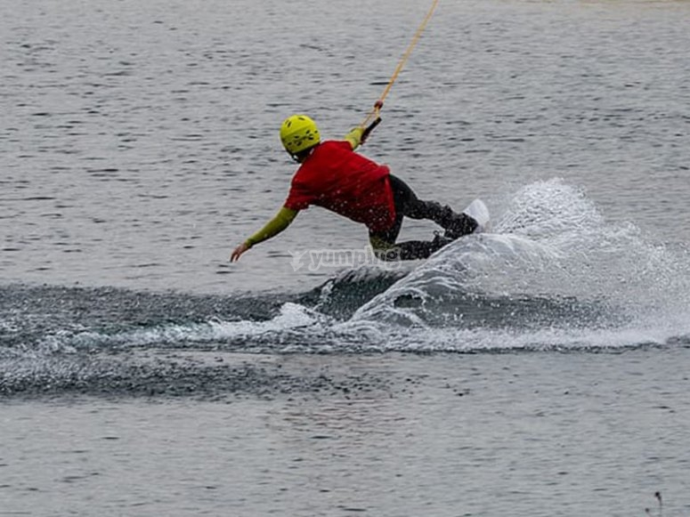 Having fun with an afternoon of wakeboarding