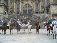 Camino de Santiago a caballo: llegada al Obradoiro