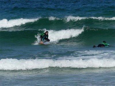 Curso de surf en playa Ladeira en Corrubedo 3 días