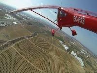 Volando sobre Totana en avioneta