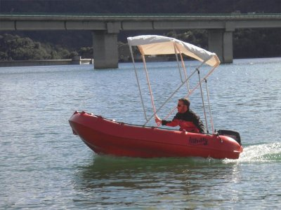 Boat rental without license Baells reservoir 2h