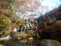 Gruppo di canyoning a Pontevedra