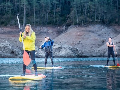 Paddle surf rental in the Baells reservoir 3h