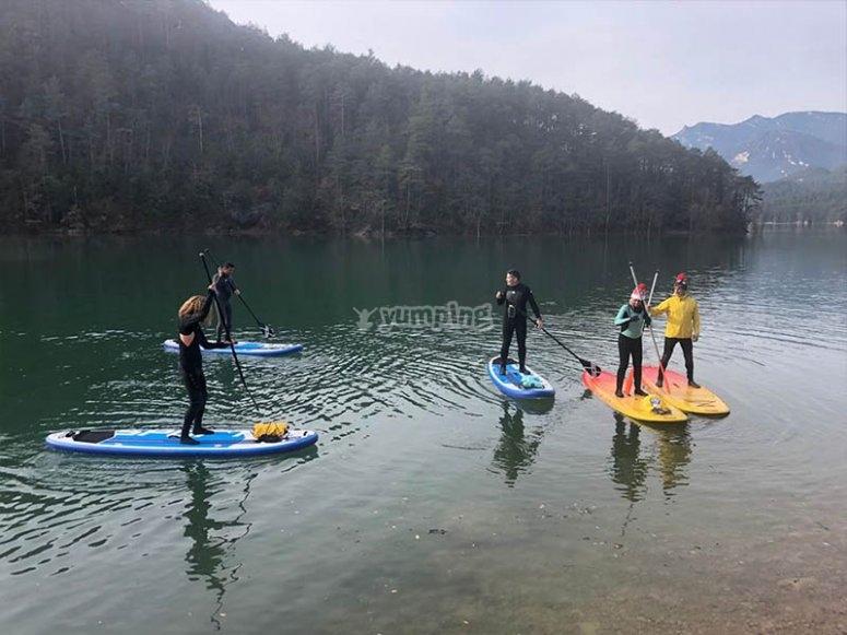 开始桨冲浪的一天