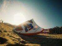 Kite on land