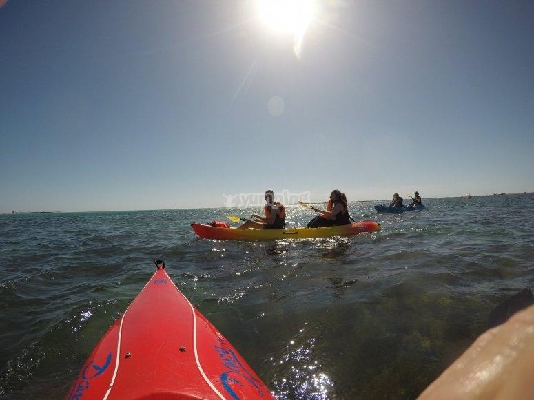 A bordo de los kayaks por el Atlántico