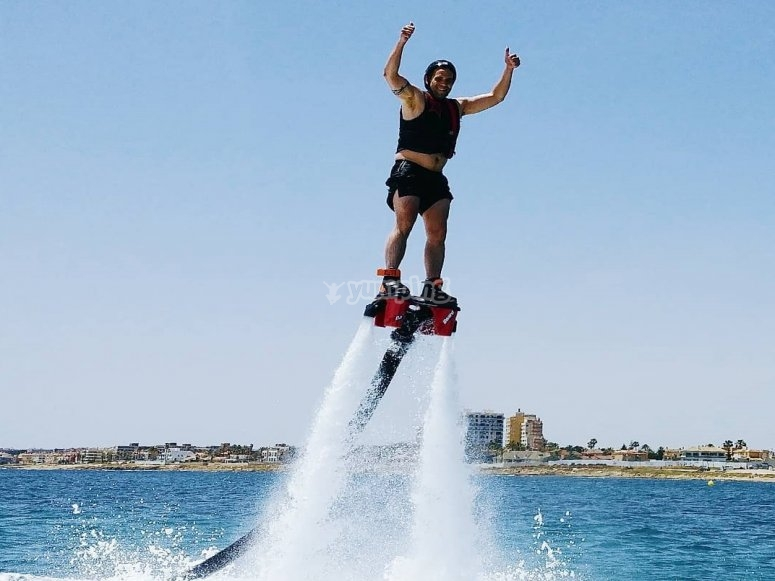 Soaring with the flyboard