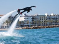 Pirouettes with the flyboard