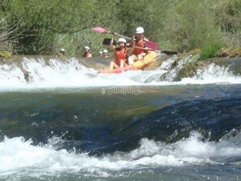Piraguismo en el Río Guadiela