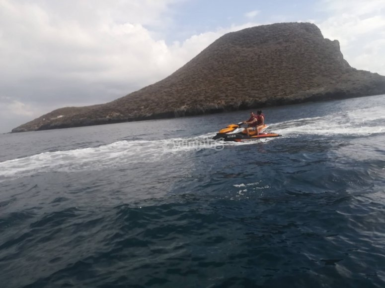 Jet ski route along the Costa Blanca