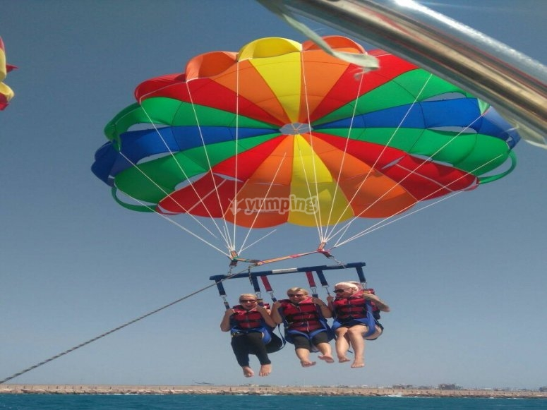 Parasailing flight in Torrevieja