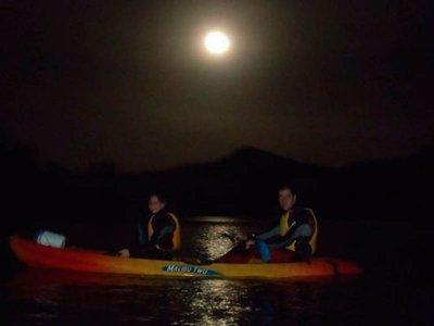 拉托巴水库夜间独木舟路线1小时