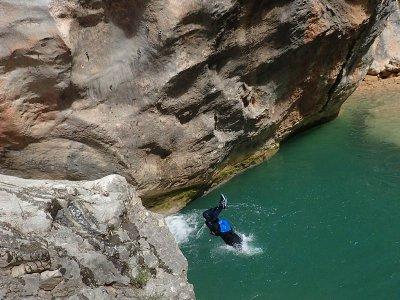 Barranco del Fornocal nivel 1 en Sierra de Guara
