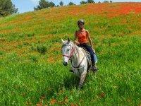 Salida a caballo en primavera