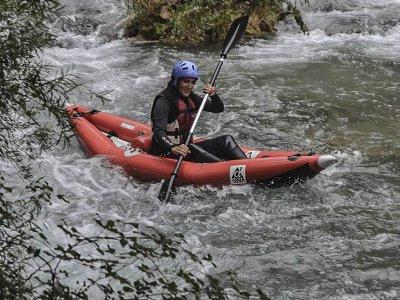 Ruta en canoa en tramo Tamayo del río Cabriel 2 h