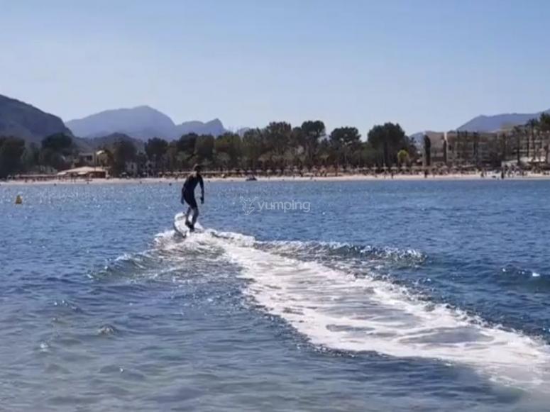 Surfeando con la tabla electrica
