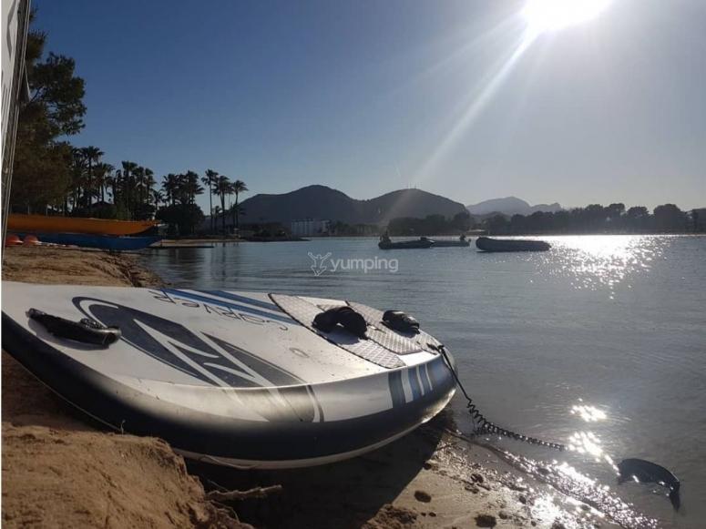 Tabla de surf electrica en Alcudia