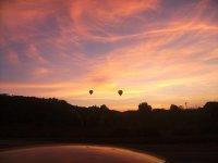 Sunset in hot air balloon