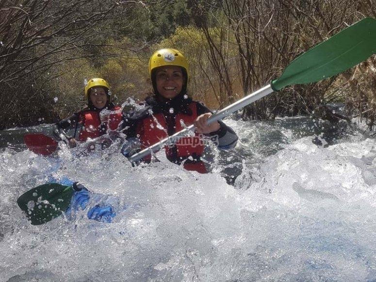 Disfrutando de las aguas bravas el Alto Tajo