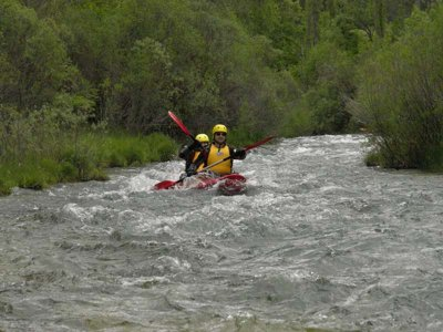 Medium level whitewater canoe in Alto Tajo