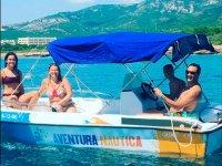 Alquiler de barco sin licencia en Alcocéber 1 h