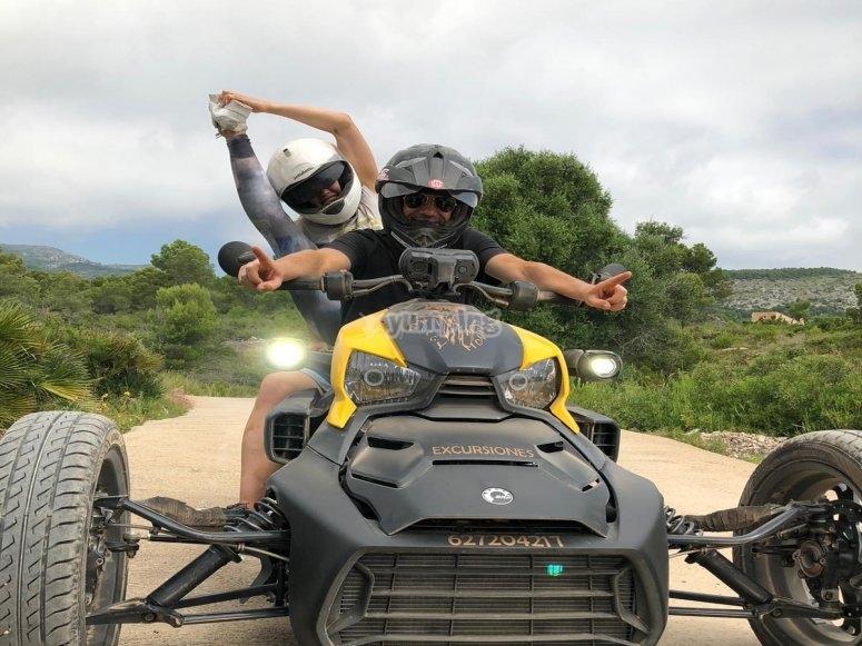 Ryker en la Sierra de Irta