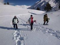 三人小组参观的水雪鞋