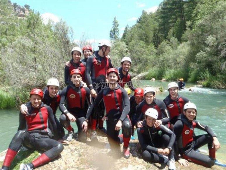 准备好享受Barranco Hoz Somera -999的朋友们-知道Barranco Hoz Somera的天然水池