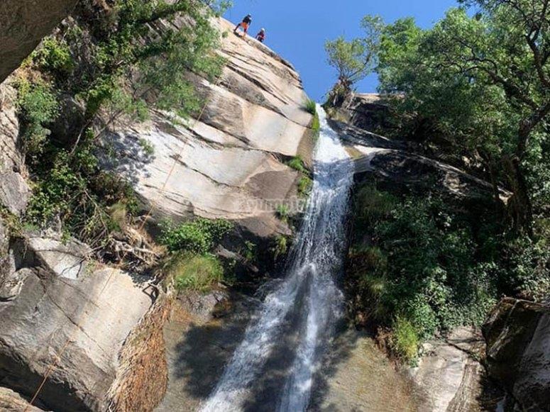 La Hoz山沟瀑布