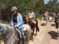 Route group on horseback