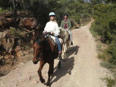 Ruta a caballo en Parque Natural de Turia y comida