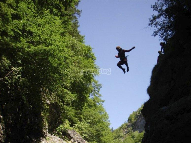 Disfrutando de un salto