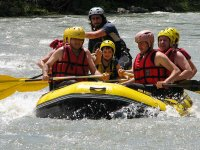 Family rafting descent of river Ésera in Pyrenees